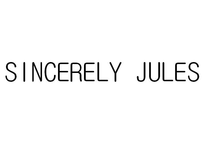 SINCERELY JULES